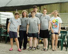 Dog Wash volunteers.  Summer, 2013.