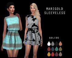Marigold Sleeveless Dress at Leo Sims • Sims 4 Updates