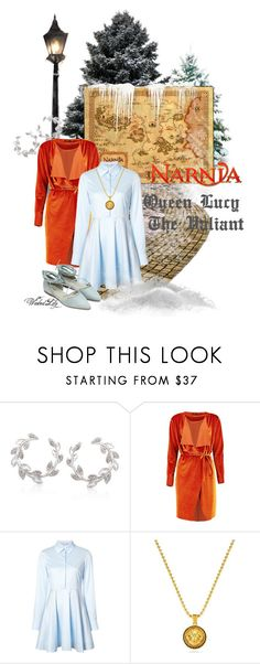 """Lucy Pevensie from ""The Chronicles of Narnia"""" by le-piano-argent ❤ liked on Polyvore featuring Ross-Simons, Boohoo and STELLA McCARTNEY"