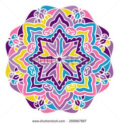 Mandala. Vector Ethnic Oriental Circle Ornament.  - stock vector