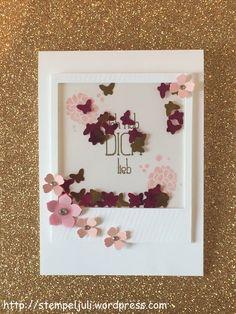 Stampin Up Karte Muttertag Schüttelfenster Blume Schmetterling