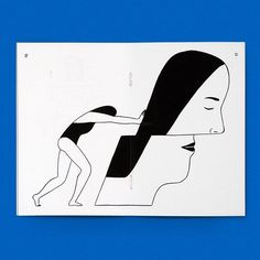 """""""A volume of figurative black and white drawings from Brooklyn-based illustrator and artist Rachel Levit Ruiz. Born and raised in Mexico City, Ruiz's work observes and comments on gender, femininity and contemporary relationships. This series u..."""