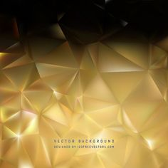 Black Gold Polygon Background Template