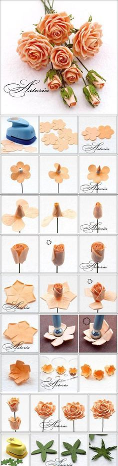 Beautiful Pink Rose   DIY & Crafts Tutorials Never thought to do fake roses but I'll give it a try