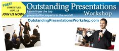 The annual Outstanding Presentations Workshop is free this year