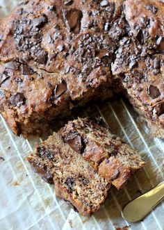 Paleo Chocolate Chunk Banana Bread  #Bakerita