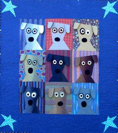 = free pattern = Dog Daze quilt by Kimberly Rado for Fons & Porter, featured at Quilt Inspiration