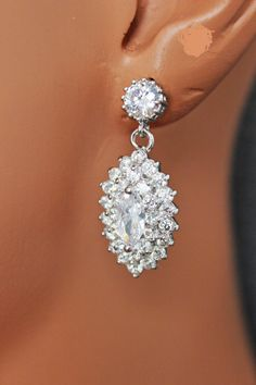 Hey, I found this really awesome Etsy listing at https://www.etsy.com/listing/177625541/marquise-bridal-earrings-crystal-wedding