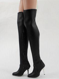 "Fashion Black Shoes/Boots Ellowyne Wilde/Antoinette 16"" Tonner Doll(8-EB-1"
