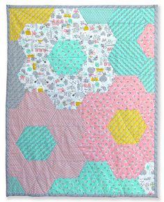 Pattern for Monsterz-Sized Hexagon Quilt by Michelle Engel Bencsko | Cloud9 Fabrics, via Flickr