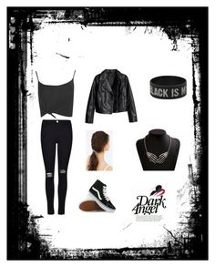 Everybody's got a dark side by stray-arrow on Polyvore featuring polyvore, fashion, style, Boohoo, Frame Denim, Vans, JEM and clothing