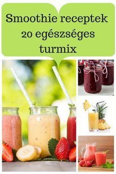 Neked melyik lesz a kedvenced? Smoothie Fruit, Green Detox Smoothie, Healthy Green Smoothies, Raspberry Smoothie, Apple Smoothies, Healthy Drinks, Healthy Snacks, Healthy Recipes, Detox Drinks