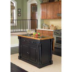 f32d10906eb75 Monarch Island Black/ Distressed Oak Finish with Granite Top Cost