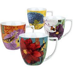 Waechtersbach Accents Impressions Mugs Multicolor Set of 4 ** Click image for more details.