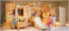 OMG!!!  Now THAT's an indoor playground I'd LOVE to have!!!!!!!!!