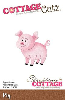 The Scrapping Cottage - pig cottageCutz