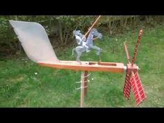 girouette whirligig mécanique animée DON QUICHOTTE de papy jojo