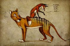 Thylacine Stripes by =Culpeo-Fox