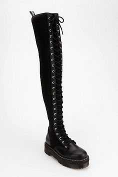 agyness dean for dr. martens over-the-knee boot.
