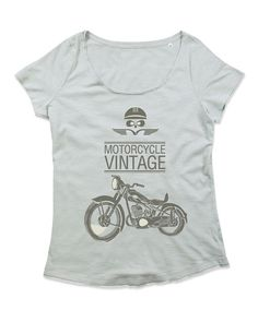 T-shirt Donna Girocollo in cotone Slub WOMAN MOTOR