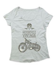 T-shirt Donna Girocollo in cotone Slub WOMAN MOTOR