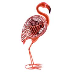 Eco-friendly pink flamingo-shaped fan crafted of cast metal.  Product: FanConstruction Material: Cast metal...