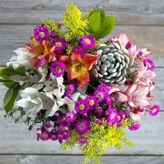 Succulent bouquet will last forever! Replant it in your garden or container and watch it grow and multiply!