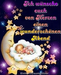 Learn German, Good Night, Wish, Life Quotes, Learning, Happy, Gb Bilder, Painting, Be Nice