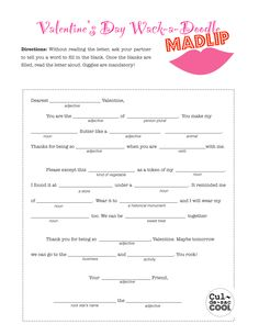 """***12 Coolest Valentine's Day School Party Games - Mad """"Lip"""", I'veNever/Who do I love?, Blinded by Love"""
