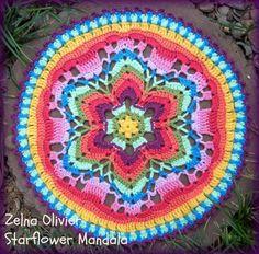 Yıldız Çiçeği Örgü Mandala Yapımı 31