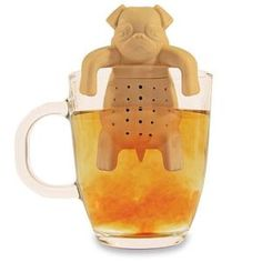 Coloured Silicone Hanging Tea Leaf Infuser Strainer Stainless Steel Novelty Cup