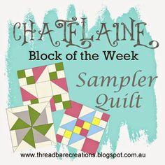 Threadbare Creations: Free Chatelaine BOW Sampler Quilt