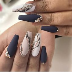 Acrylic marble nail designs for beautiful girls nail art ideas 2020 . - Acrylic marble nail designs for beautiful girls nail art ideas 2020 # nail # nail - Marble Nail Designs, Marble Nail Art, Acrylic Nail Designs, Nail Art Designs, Nails Design, Acrylic Art, Gold Nail Art, Nail Swag, Summer Acrylic Nails