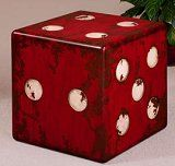 Giant Dice Décor. Maybe make my own so it can be storage too