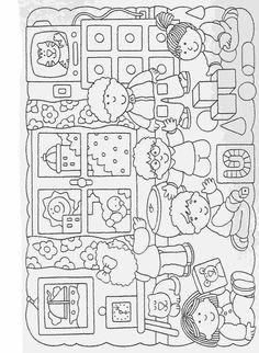 Actividades para niños preescolar, primaria e inicial. Fichas para imprimir en las que tienes que completar los dibujos y colorearlos para niños de preescolar y primaria. Completar y Colorear. 41