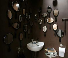 Stephen Bayley's bathroom mirrors