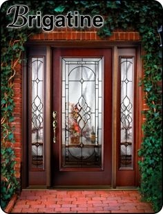 The Glass Door Store, Tamp. Front entry door with sidelights in a fiberglass entryway. They also have hurricane impact decorative glass.
