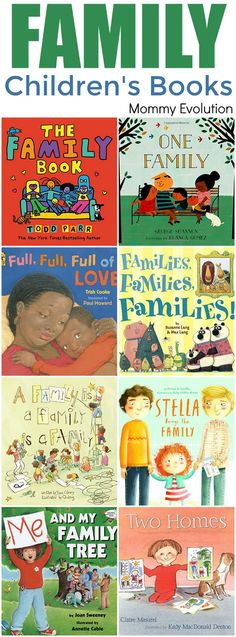 Childrens Books about Family - Diverse families and books for kids Mommy Evolution Preschool Family Theme, Preschool Books, Preschool Activities, Activities About Family, Kindergarten Family Unit, Kindergarten Learning, Preschool Lessons, Toddler Books, Childrens Books