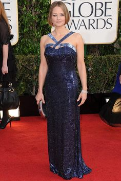 Jodie Foster at the Golden Globe Awards 2013. Jessica Chastain ce5fb52b8dde