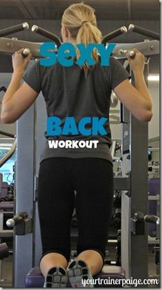 Move it Monday:  Back Workout - Your Trainer Paige