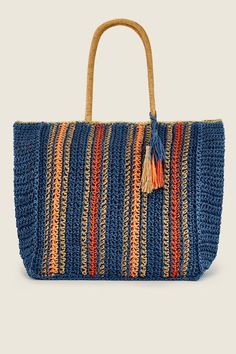 Crochet Borders, Crochet Top, Net Bag, Unique Bags, Crochet Handbags, Crochet Accessories, Blue Bags, Straw Bag, Purses And Bags