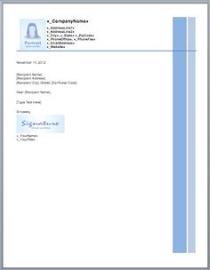 Free Letterhead Templates | Free small, medium and large images - IzzitSO