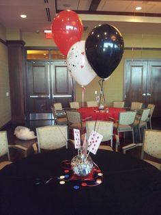 Casino Party centerpieces