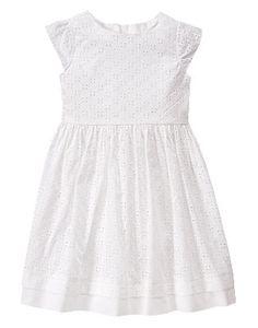 Eyelet dress - girl size