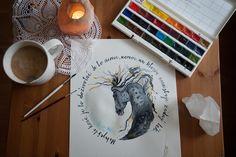 Akvarell horse