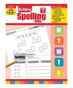 Look what I found on #zulily! Grade 1 Building Spelling Skills Workbook #zulilyfinds