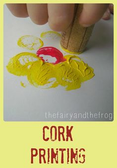 Cork Printing for Kids