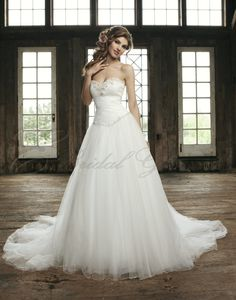 Ball Gown Strapless Sweetheart Beaded Bodice Wedding Dress