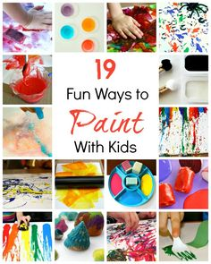 Art for Kids~Creative Ways to Paint via @shaunnaevans