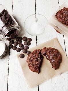 salted chocolate brownie cookies
